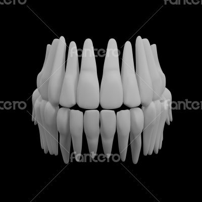 3d human red teeth
