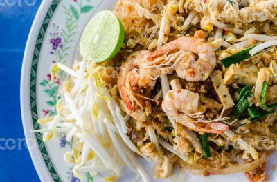 Thai style noodle , Pad thai