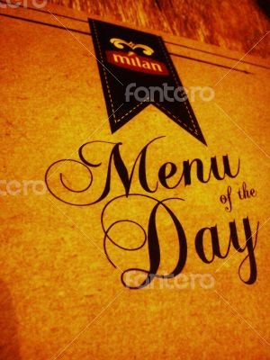 Menu of the Day