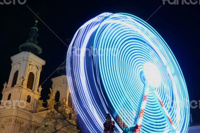 Shot of Ferris wheel