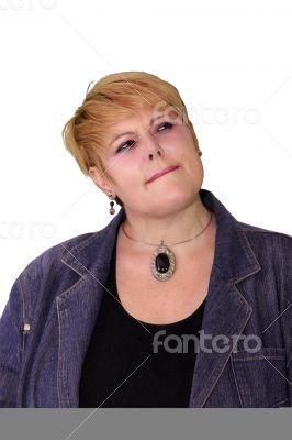 Mature Woman Body Language - Considering