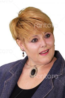 Mature Woman Body Language - Fixated Surprised
