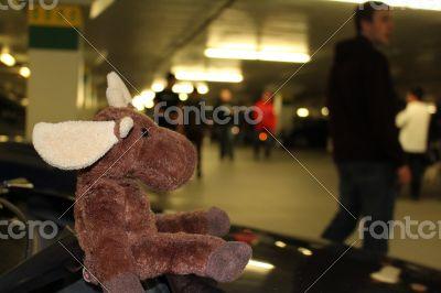 Moose Stuffed Animal Plush Car Show