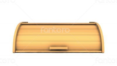 3d bread box render isolated on white background