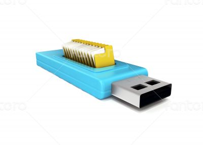 3d usb drive that contains data folders