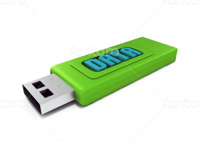 3d usb drive that contains word data