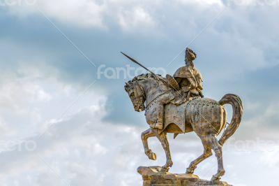 Statue of Ras Makonnen on a horse