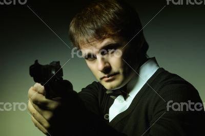 Portreit of a man with a gun #2