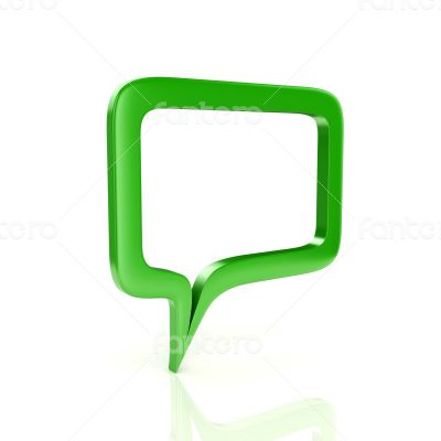 3d glossy and shinny speech bubble render