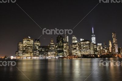NYC financial district from Brooklyn