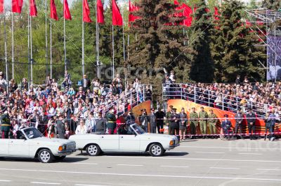 Russian ceremony of the opening military parade