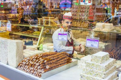 Istanbul, Turkey. Shop of the Turkish sweets
