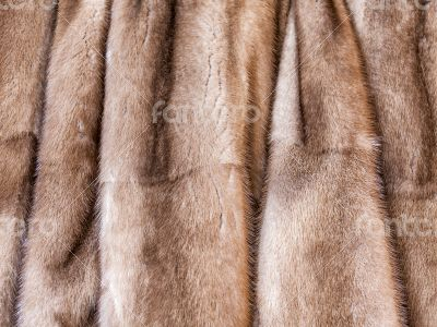 Product from from natural fur of a mink