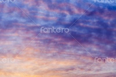 Heavenly landscape at sunset sun