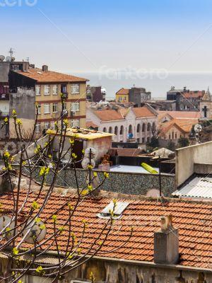 Istanbul, Turkey. April 28, 2011. Typical city landscape.