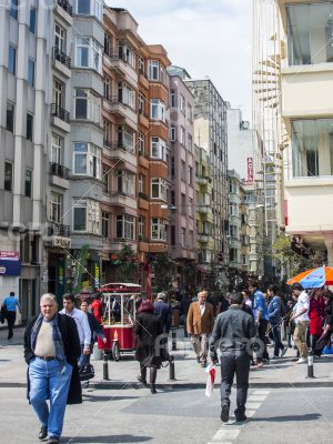 Istanbul, Turkey. Urban view in the spring afternoon