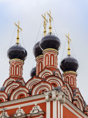 Moscow, Russia. architecture details of an Orthodox church