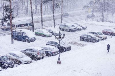 Pushkino, Russia, winter landscape