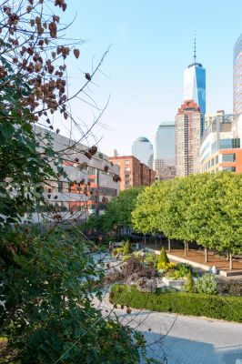 Green space within the concrete jungle