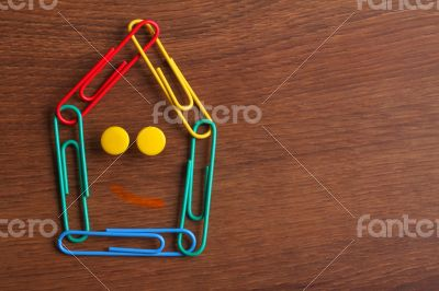 The Paper Clip House on the Wood