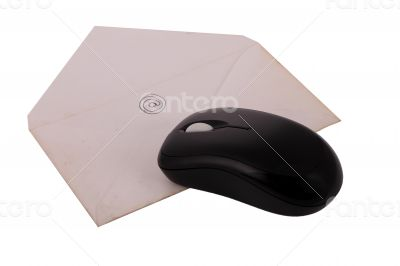 The Letter on The White Background Mouse Technology