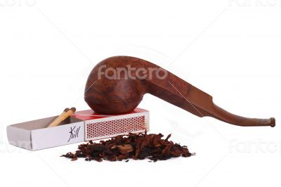 The Tabacco Pipe On The White Background  Unhealthy