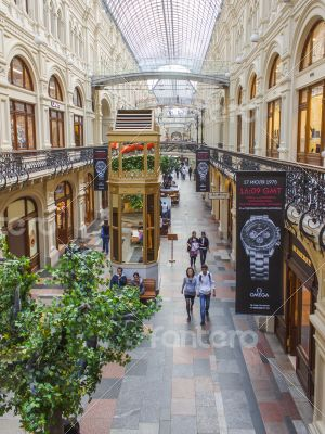 Moscow,  GUM historical shop. Trading floor