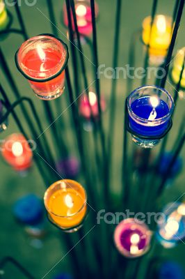 Candle in Glasses
