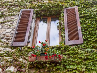 Antibe. Typical architectural details in Provencal style
