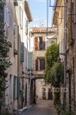 Antibes, France. A typical urban view