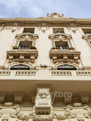 Antibes, France. Typical architectural details