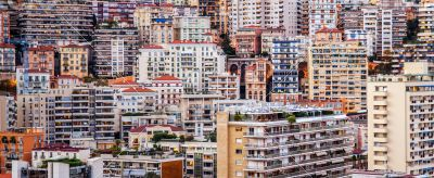 Monaco, port and residential areas