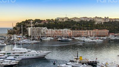Monaco,  residential areas and port