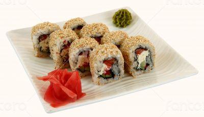 japaneese cuisine meal sushi rolls