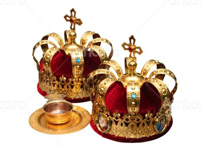 Orthodox Wedding Ceremonial Crowns