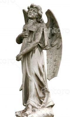 Mature marble angel figurine
