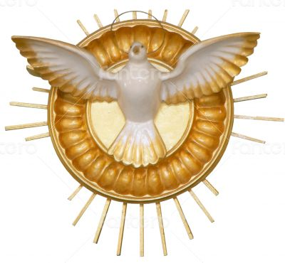 golden pigeon christian symbol