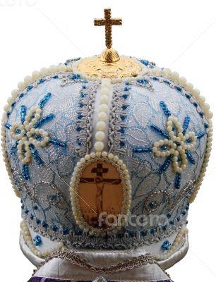 blue mitre - solemn headgear