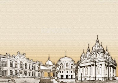 Sepia architecture background