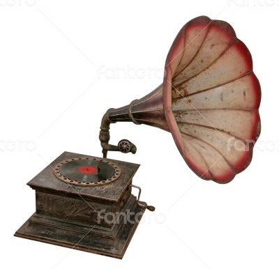 antique sound output phonograph or gramophone