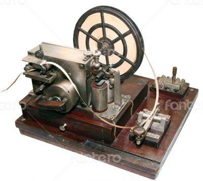 vintage morse telegraph machine