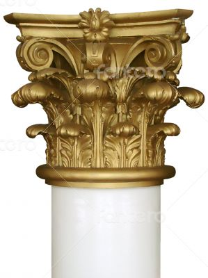 gold top capital of white column