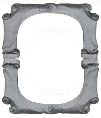 empty silver handmade frame