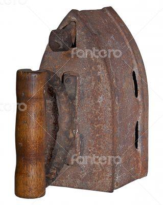 rusty vintage charcoal iron