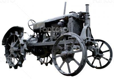 obsolete vintage tractor