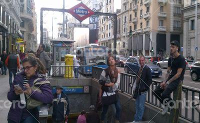 Gran Via Subway. Madrid. Spain