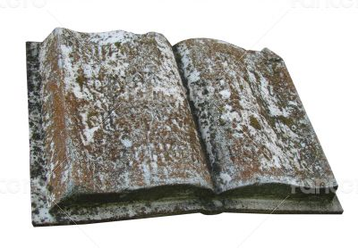 Ancient marble opened book