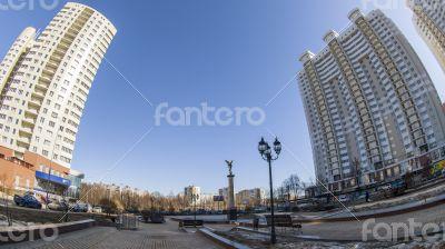 Pushkino, Russia, spring landscape