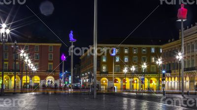 Nice, Massena Square in evening