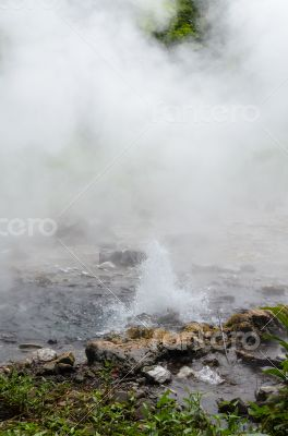 Spring of naturally hot water